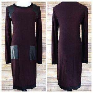 W118 by Walter Baker Purple & Faux Leather Dress